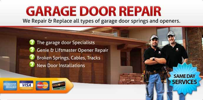 Garage door broken spring replacement